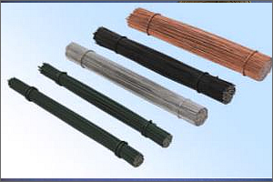 straightened cut tie wire